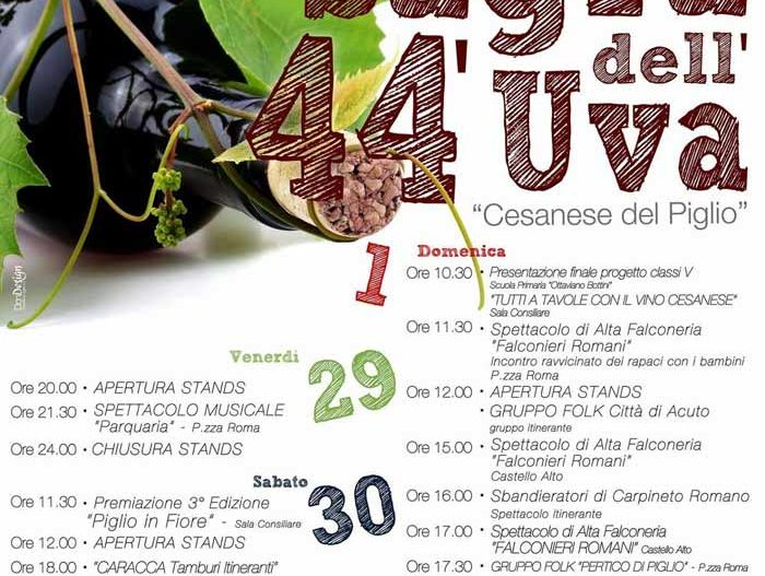 44° SAGRA DELL'UVA CESANESE del Piglio