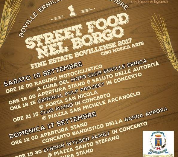 STREET FOOD NEL BORGO – Boville Ernica