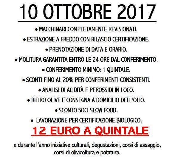 INAUGURAZIONE STAGIONE OLEARIA – Frantoio Sperati