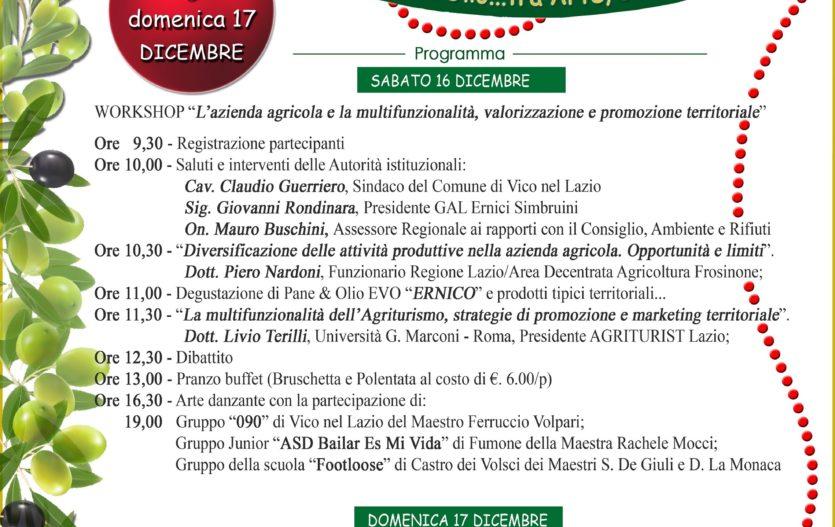GRAN FESTA DELL'OLIO NUOVO & MERCATINI NATALE – Vico nel Lazio