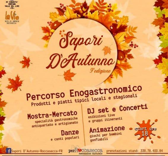 SAPORI D'AUTUNNO – Roccasecca