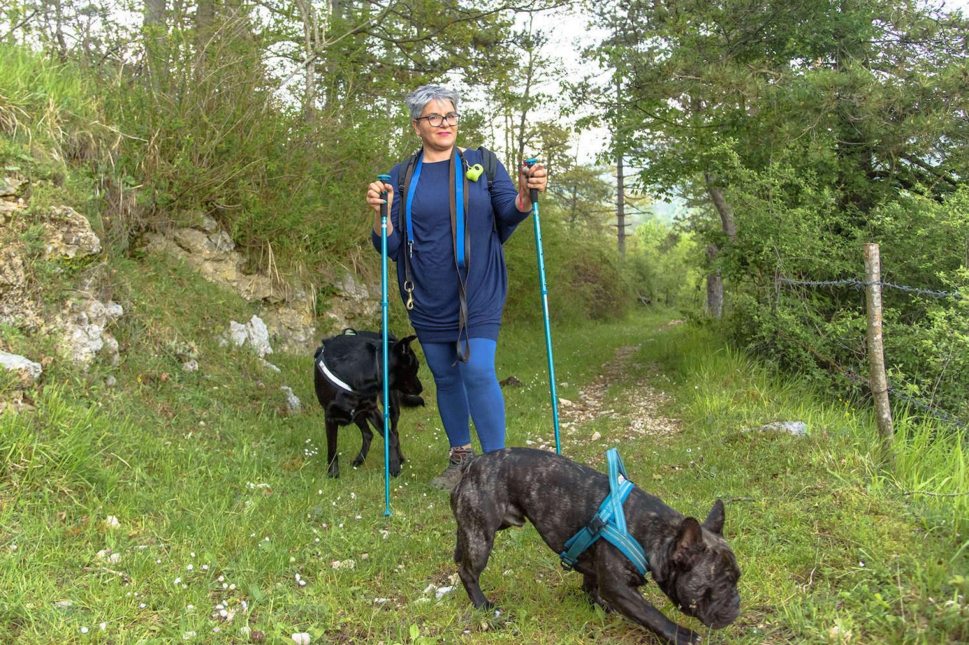 trekking dog a Piglio